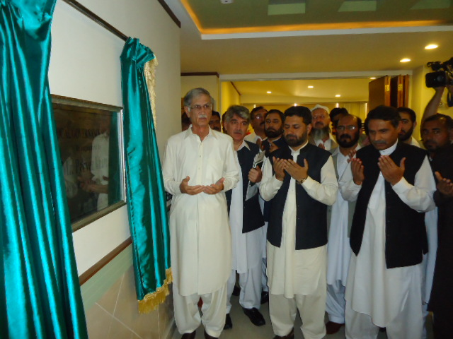 Chief Minister Khyber Pakhtunkhwa Mr. Pervez Khattak inaugurating the Local Governance School building